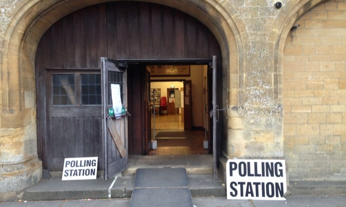 Elections are held in the Redesdale Hall