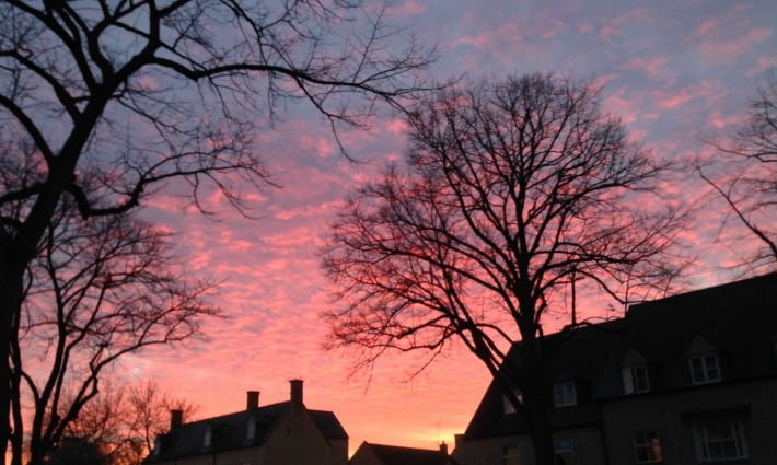 The sun sets over our beautiful Cotswold town