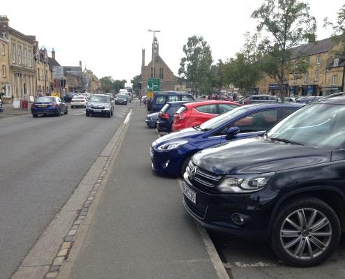 Cars on car park